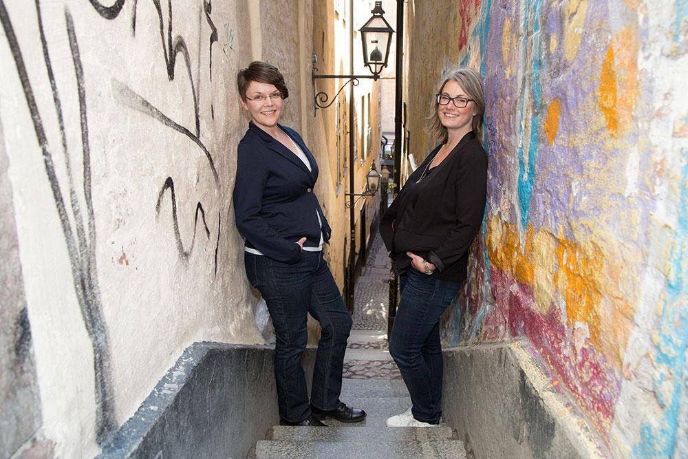 Jenny Strömkvist and Lotta Ulfström
